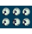 Zodiac signs in a circle frames set vector image