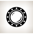 Silhouette porthole on a light background vector image