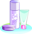powder and cream vector image vector image