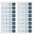 Thin line game icons buttons interface ui vector image
