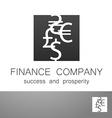 financial company dollar euro sign logo vector image vector image