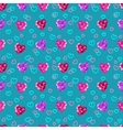 Crystal hearts valentine day pattern vector image