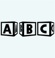 Alphabet cubes with ABC letters vector image
