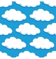 Cartoon seamless pattern with white clouds vector image