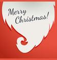 christmas greeting card beard santa claus on a vector image