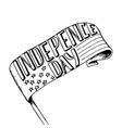happy independence day card hand drawn holidays vector image