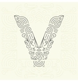 Letter V Golden Monogram Design element vector image
