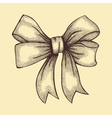 ribbon tied in a bow Freehand drawing vector image