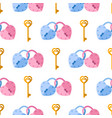 seamless pattern from padlock couple key vector image