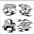 tribal tigers - set vector image