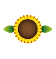 sunflower ecology symbol icon vector image