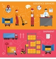 Logistic process infographics vector image