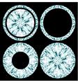 Diamond shapes set on black background vector image