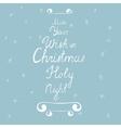 Handdrawn Christmas Card vector image