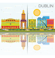 Dublin Skyline with Color Buildings vector image vector image