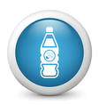 Explosive Bottle glossy icon vector image vector image