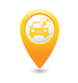 cars satelite MAP pointer yellow vector image