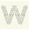 Letter W Golden Monogram Design element vector image