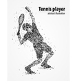 tennis abstract athlete vector image
