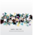 Abstract colorful and creative geometric with a vector image
