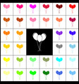 Balloons set sign felt-pen 33 colorful vector image
