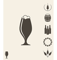 Beer Icon set Design element vector image