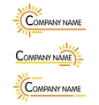 Corporate symbol templates vector image