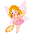 Cute little fairy vector image