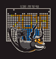 dog on a black background the symbol of the year vector image