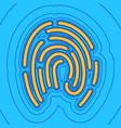 fingerprint sign sand color vector image