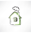 House with smoke from the chimney vector image