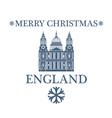 Merry Christmas England vector image