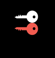 red and white key to the door vector image