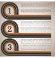 Retro design template 2 vector image