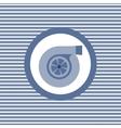 Turbine color flat icon vector image