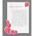 strawberry background blank page vector image