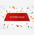 super sale banner ribbon red vector image