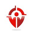 people target GPS location finder logo vector image