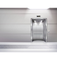 Realistic Empty Elevator Hall Interior vector image