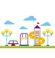 beautiful children playground icon vector image