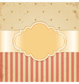 Golden vintage card vector image