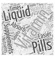 Liquid Vitamin Word Cloud Concept vector image