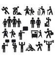man icons vector image