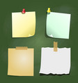 paper note on green board - vector image