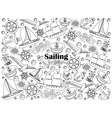 Sailing colorless set vector image