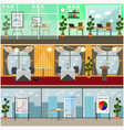 set of business interior posters banners vector image