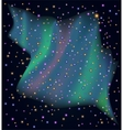 Starry sky with northern Lights vector image