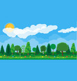 summer nature landscape national park vector image