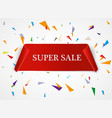 super sale banner ribbon red vector image