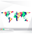World map background in origami style vector image